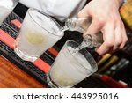 carbonated drinks being poured... | Shutterstock . vector #443925016