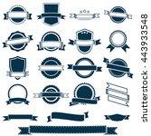 vector banner ribbons  labels...   Shutterstock .eps vector #443933548