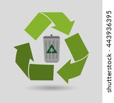 eco friendly design  vector... | Shutterstock .eps vector #443936395
