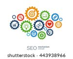 seo mechanism concept. abstract ... | Shutterstock .eps vector #443938966