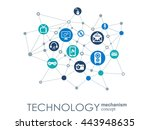 technology mechanism concept.... | Shutterstock .eps vector #443948635