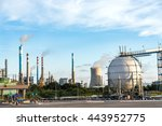 refineries at the blue sky... | Shutterstock . vector #443952775
