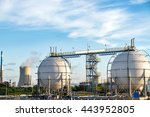 refineries at the blue sky... | Shutterstock . vector #443952805