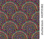 seamless mosaic pattern with... | Shutterstock .eps vector #443955382