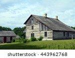 Vintage log cabin farm