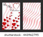 postcard valentine's day with... | Shutterstock .eps vector #443962795