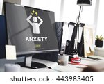 anxiety angst disorder stress... | Shutterstock . vector #443983405