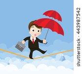 business man cartoon holding... | Shutterstock .eps vector #443987542