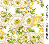 abstract elegance seamless... | Shutterstock .eps vector #443987692