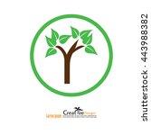 leaves design elements.tree... | Shutterstock .eps vector #443988382