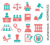 attorney  court  law icon set | Shutterstock .eps vector #443990152