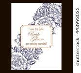 vintage delicate invitation... | Shutterstock .eps vector #443993032