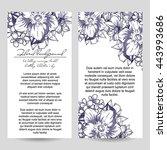 vintage delicate invitation... | Shutterstock .eps vector #443993686