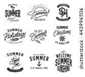 summer holidays design elements ... | Shutterstock .eps vector #443996506
