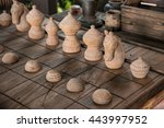 close up of wooden chess