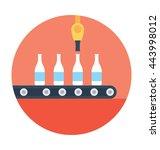bottle conveyor vector icon | Shutterstock .eps vector #443998012
