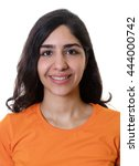 Stock photo passport photo of a young arabic woman 444000742