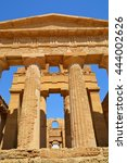 Small photo of Ancient greek Temple of Concordia, Agrigento, valley of temples, Sicily, Italy