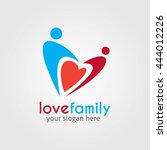 love family symbol logo icon... | Shutterstock .eps vector #444012226