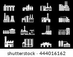 set of industry manufactory... | Shutterstock . vector #444016162