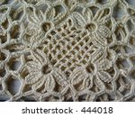 Vintage Crocheted Lace - stock photo
