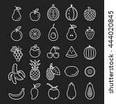fruits icons. vector... | Shutterstock .eps vector #444020845