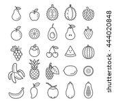 Fruits Icons. Vector...