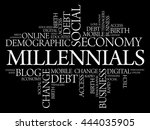 millennials word cloud social... | Shutterstock .eps vector #444035905