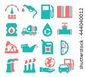 gasoline  gas  oil icon set | Shutterstock .eps vector #444040012
