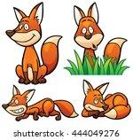 vector illustration of cartoon... | Shutterstock .eps vector #444049276