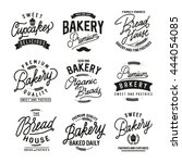 vector set of bakery logos ... | Shutterstock .eps vector #444054085
