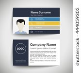 modern simple business card set ... | Shutterstock .eps vector #444059302