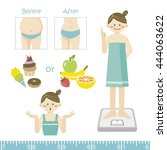 set of diet elements | Shutterstock .eps vector #444063622