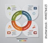 4 steps infographic report... | Shutterstock .eps vector #444076615