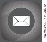 envelope mail icon  vector... | Shutterstock .eps vector #444080242