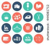 vector seamstress flat icon set ... | Shutterstock .eps vector #444081712