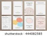 corporate identity vector... | Shutterstock .eps vector #444082585