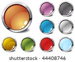 several colorful icons  vector... | Shutterstock .eps vector #44408746
