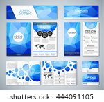 set of corporate style blue... | Shutterstock .eps vector #444091105