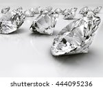 group of diamonds placed on... | Shutterstock . vector #444095236