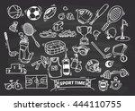 sport themed doodle | Shutterstock .eps vector #444110755