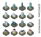skyscraper logo building icon....   Shutterstock .eps vector #444116635