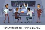 business team work success... | Shutterstock .eps vector #444116782