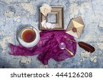 still life with pink and white... | Shutterstock . vector #444126208
