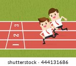 competition of business people... | Shutterstock .eps vector #444131686