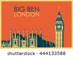 Vintage Poster Of Big Ben In...