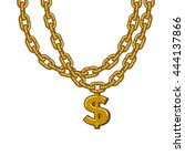 Golden Chain With Dollar Symbo...