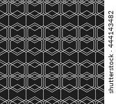 seamless geometric pattern of... | Shutterstock .eps vector #444143482