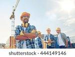 business  building  teamwork... | Shutterstock . vector #444149146