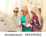 holidays and tourism concept  ... | Shutterstock . vector #444149332